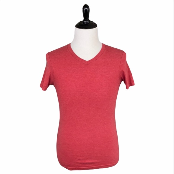 Hurley Heather Red Premium Fit V-Neck Tee